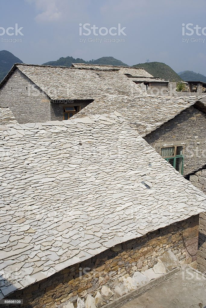 Stone House Guizhou, China Lizenzfreies stock-foto