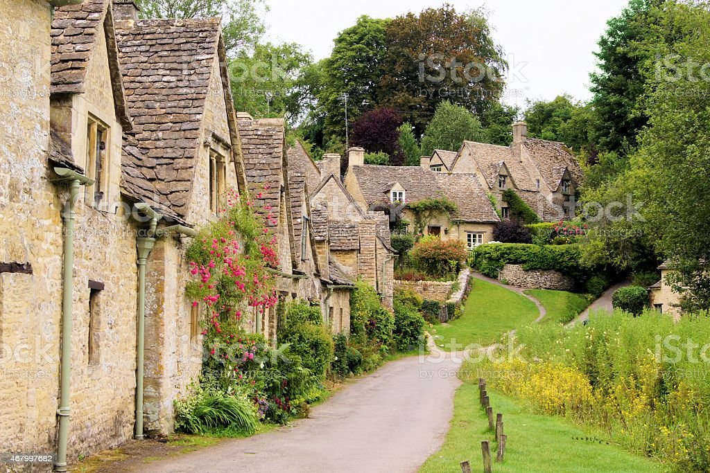 Stone houses of the English Cotswolds stock photo