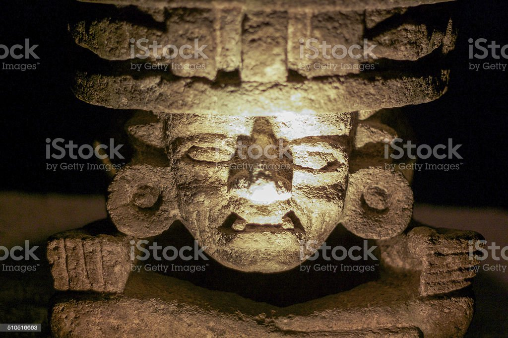 Stone idol from Teotihuakan stock photo