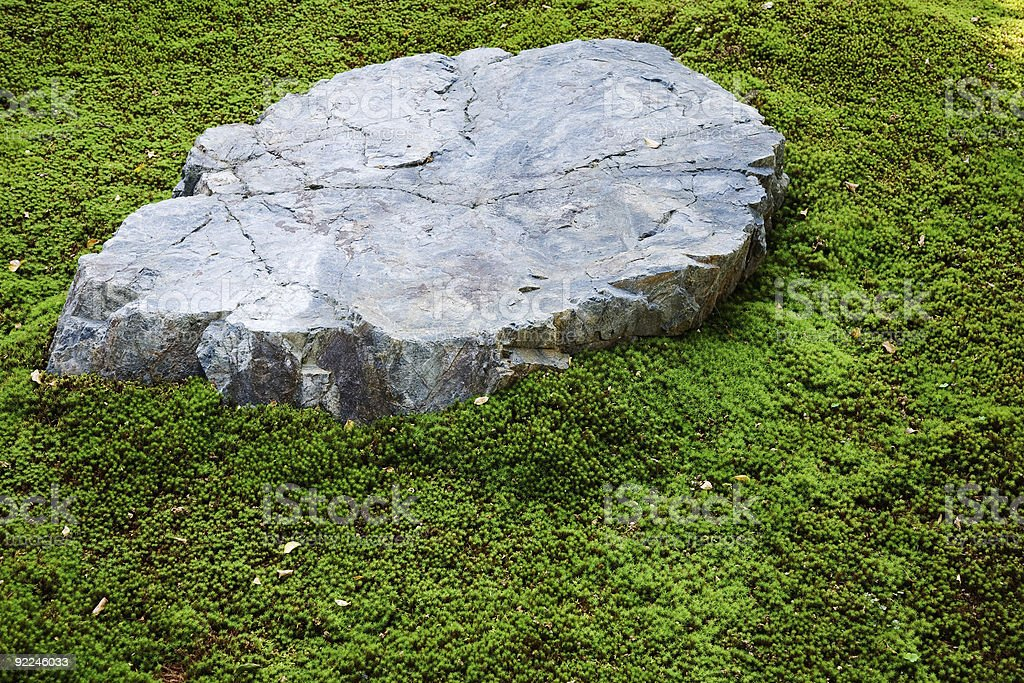 Stone in Japanese Garden royalty-free stock photo