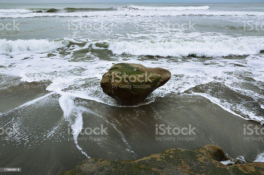 Stone in the seashore royalty-free stock photo
