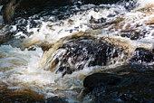 Waterfall: Bushkil Falls. Rocks in the streem.