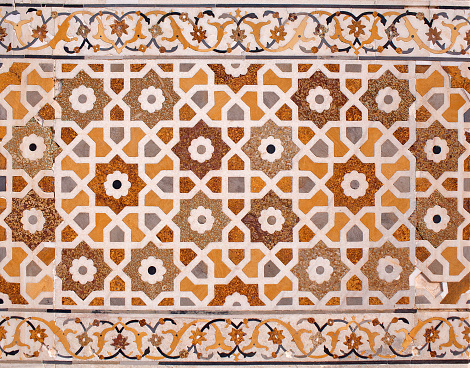 Stone Inlay At Itimaduddaulah Tomb In Agra India Stock Photo - Download Image Now