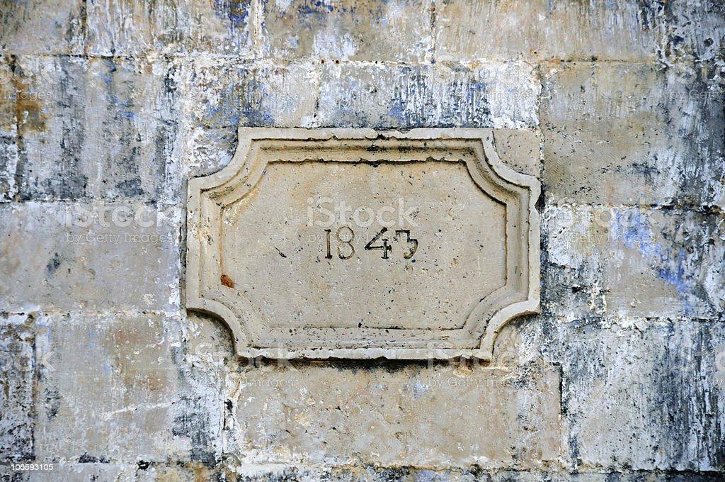 stone inscription stock photo