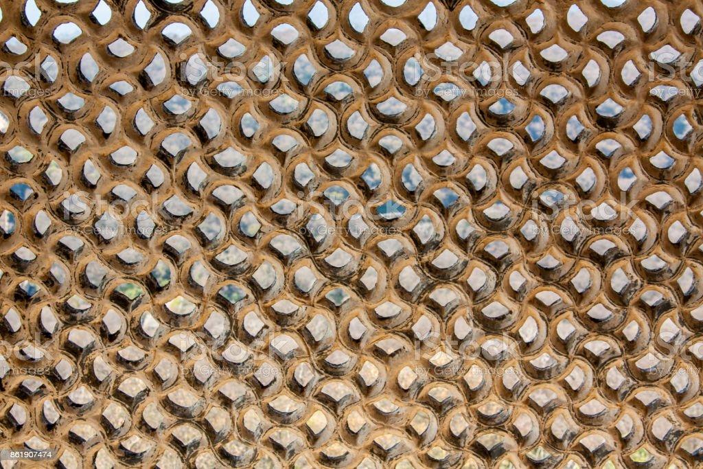stone lattice stock photo