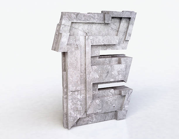 stone letter e - stone font stock photos and pictures