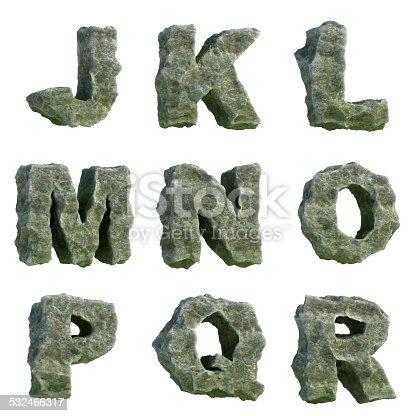 istock Stone letters (part 2 of 3) 532466317