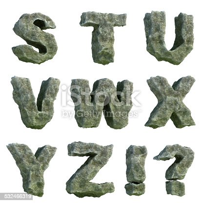 istock Stone letters (part 3 of 3) 532466319