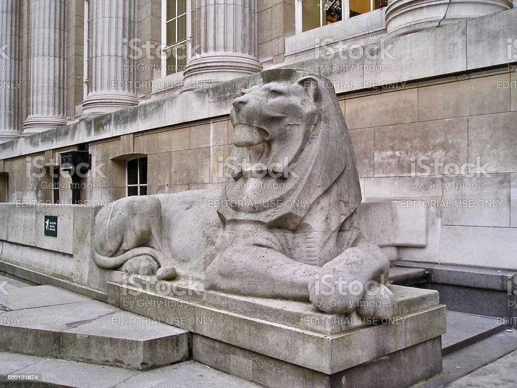 Stone Lion - British Museum stock photo
