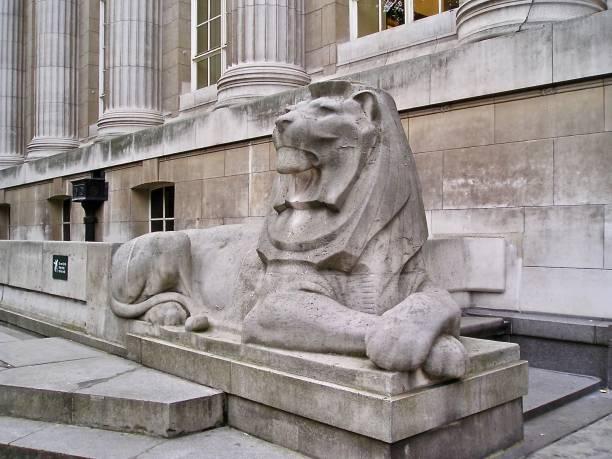 Stone Lion - British Museum stock photo