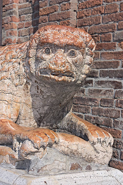 stone lion - demoniac stock pictures, royalty-free photos & images