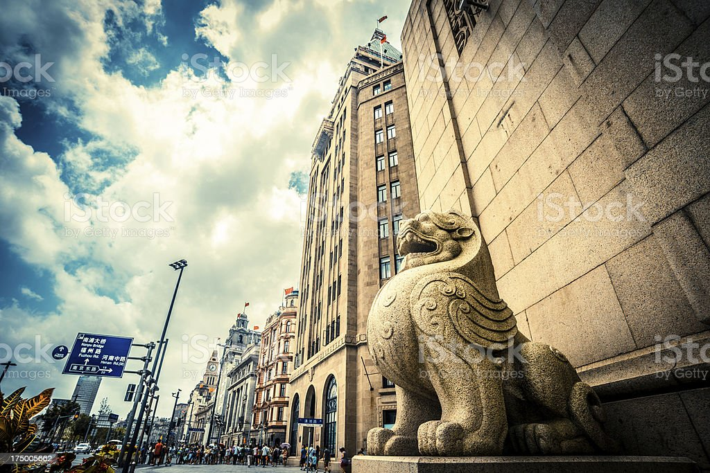 stone lion royalty-free stock photo
