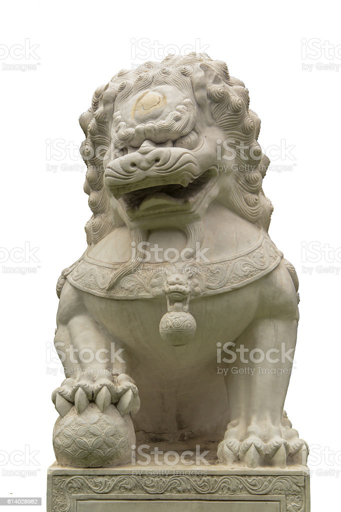stone lion statue stock photo