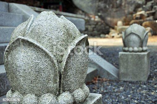 Stone Lotus Decoration