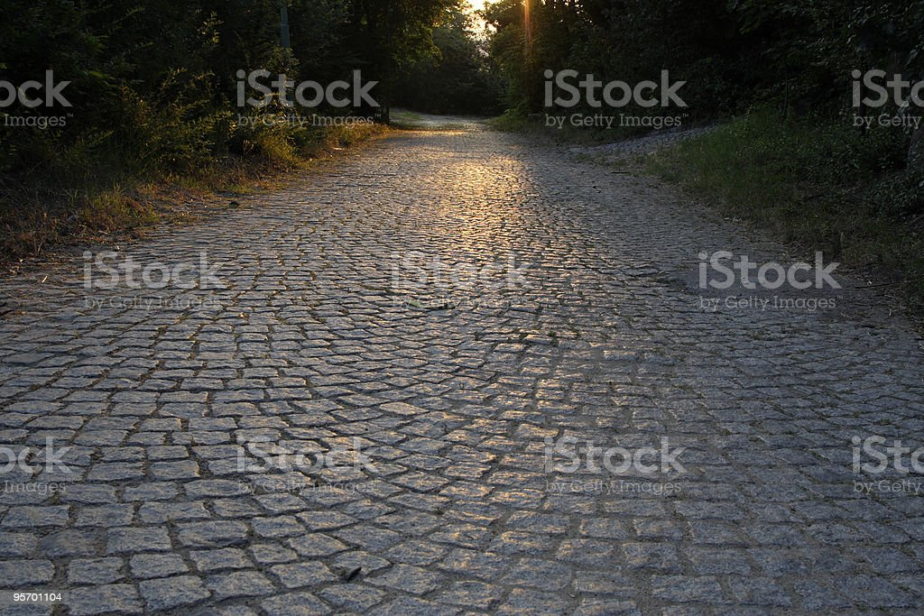 Stone made pavement royalty-free stock photo