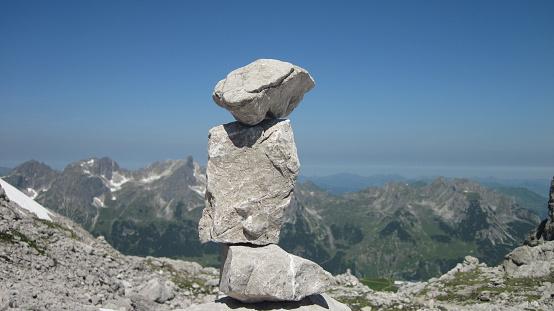 Stein Mann Im Allgäuer Alpen In Der Nähe Von Oberstdorf Deutschland Stockfoto und mehr Bilder von Abenteuer
