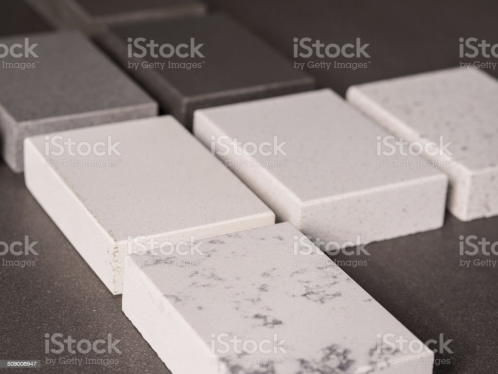 Stone, Marble & Granite Block Samples stock photo