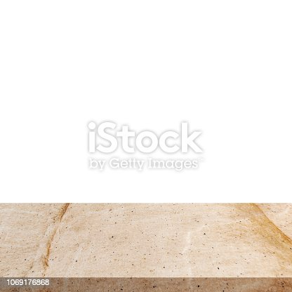 671896388istockphoto Stone marble on isolated white background with space. 1069176868