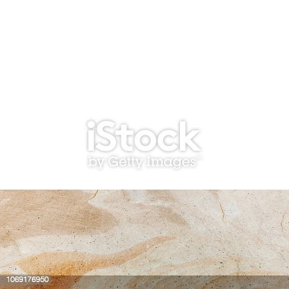 671896388istockphoto Stone marble on isolated white background with space. 1069176950