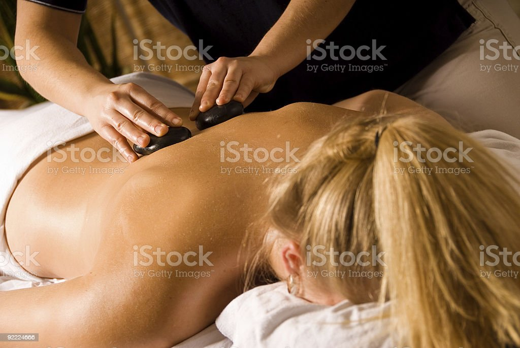 Stone massage royalty-free stock photo