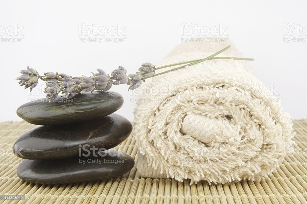 stone massage set royalty-free stock photo