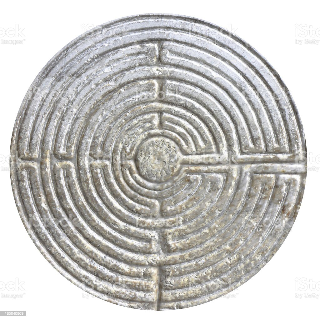 Stone maze stock photo