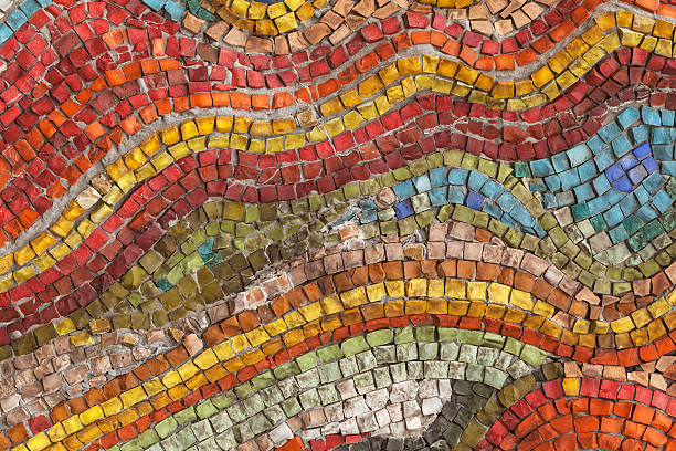 Stone mosaic stock photo