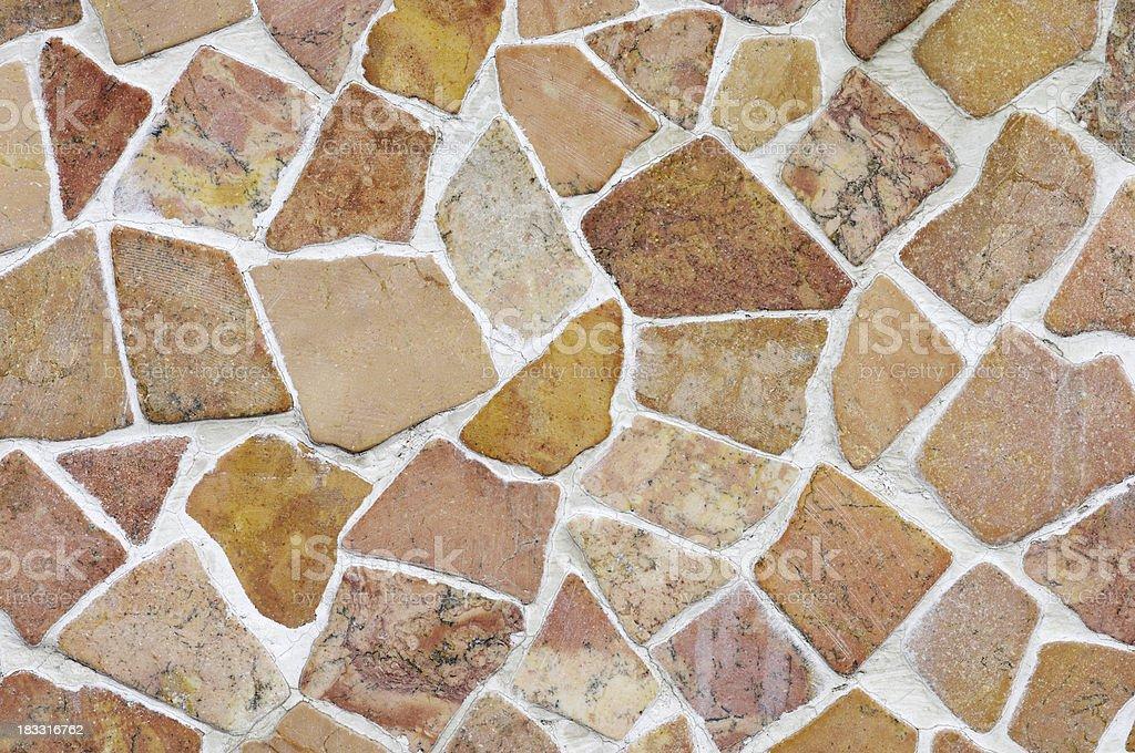 Stone mosaic wall texture background royalty-free stock photo