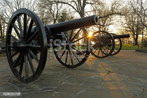 canons at sunset on stone mountain Chattanooga Tennessee