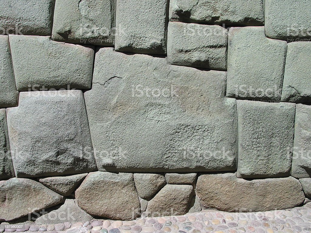 Stone of 12 Angles in Inca wall royalty-free stock photo