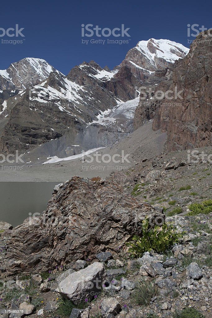 Stone of Fann Mountain stock photo