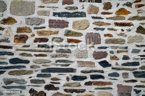 stone old brick wall seamless background texture grungy blocks of stonework color horizontal architecture wallpaper