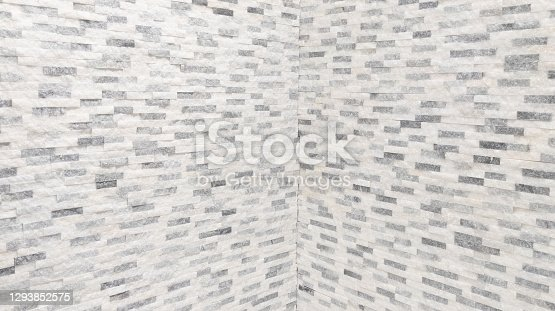 stone old brick wall seamless perspective background texture of blocks of stonework white grey horizontal architecture wallpaper