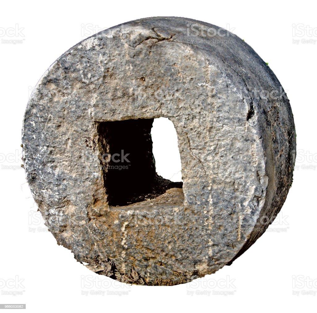 Stone olive press - Стоковые фото Археология роялти-фри