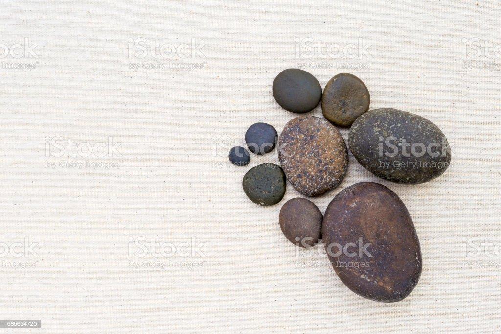Stone on canvas background 免版稅 stock photo