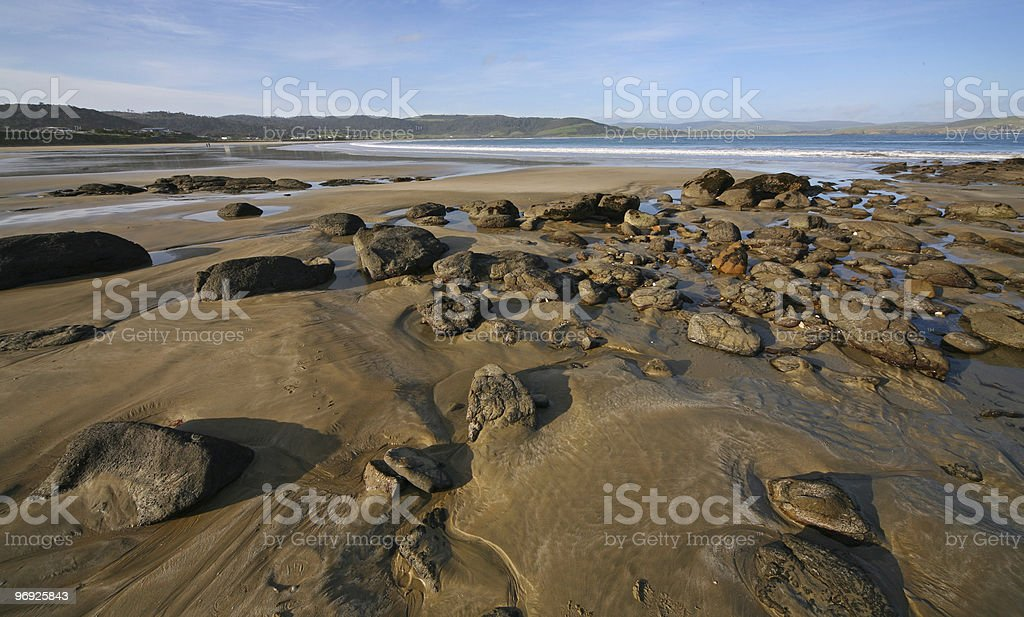 stone on the beach royalty-free stock photo