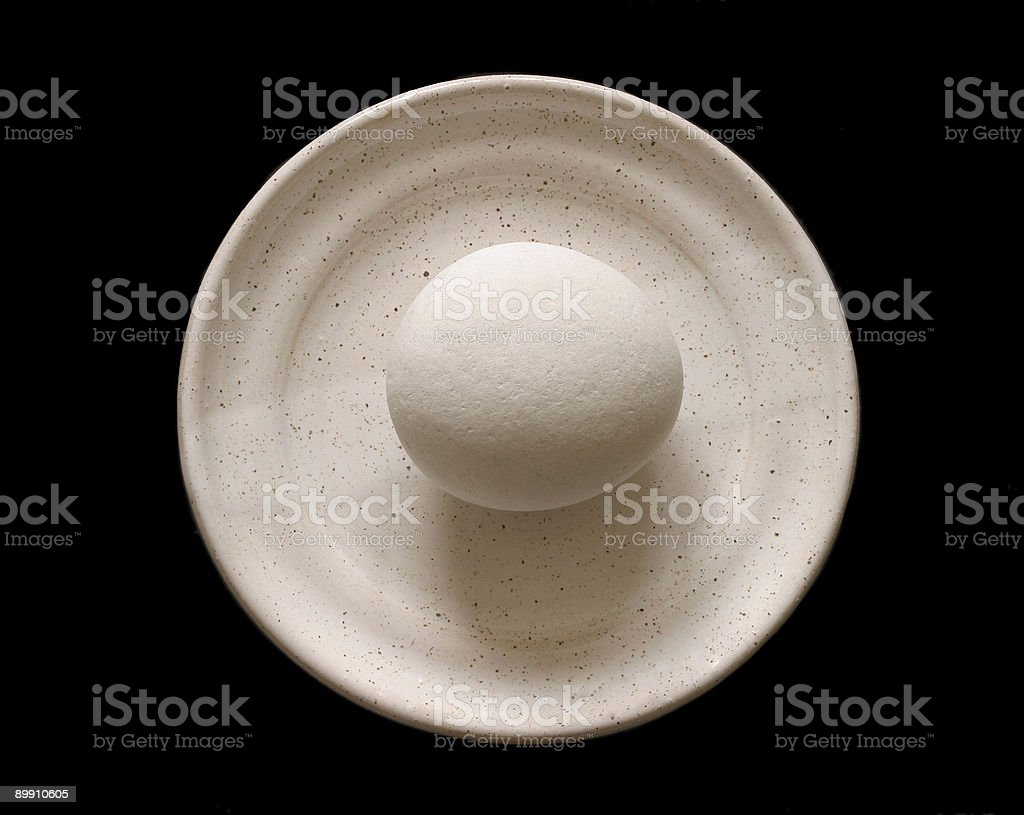 stone on the plate royalty-free stock photo