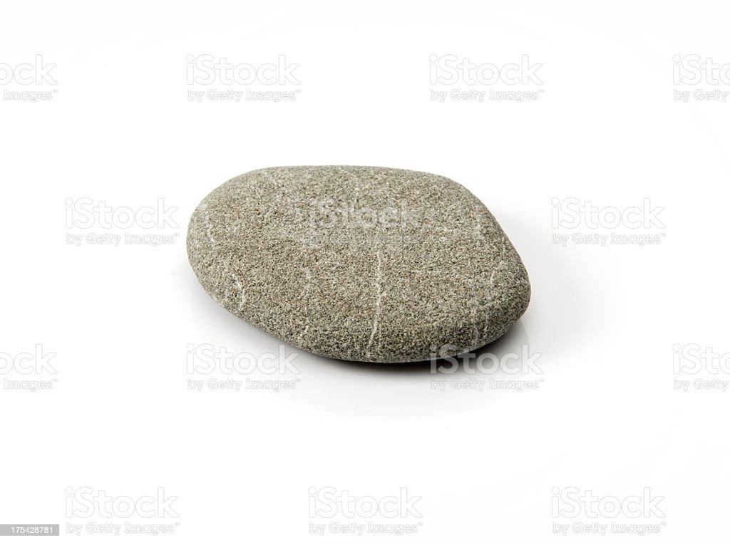 stone on white background stock photo