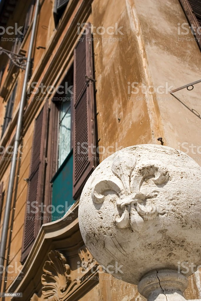 stone ornament in rome royalty-free stock photo
