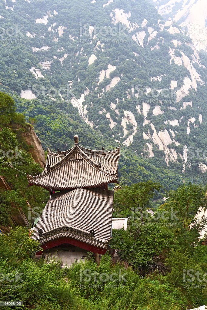 stone pagoda on the holy mountain Huashan, Xi'an, China royalty-free stock photo