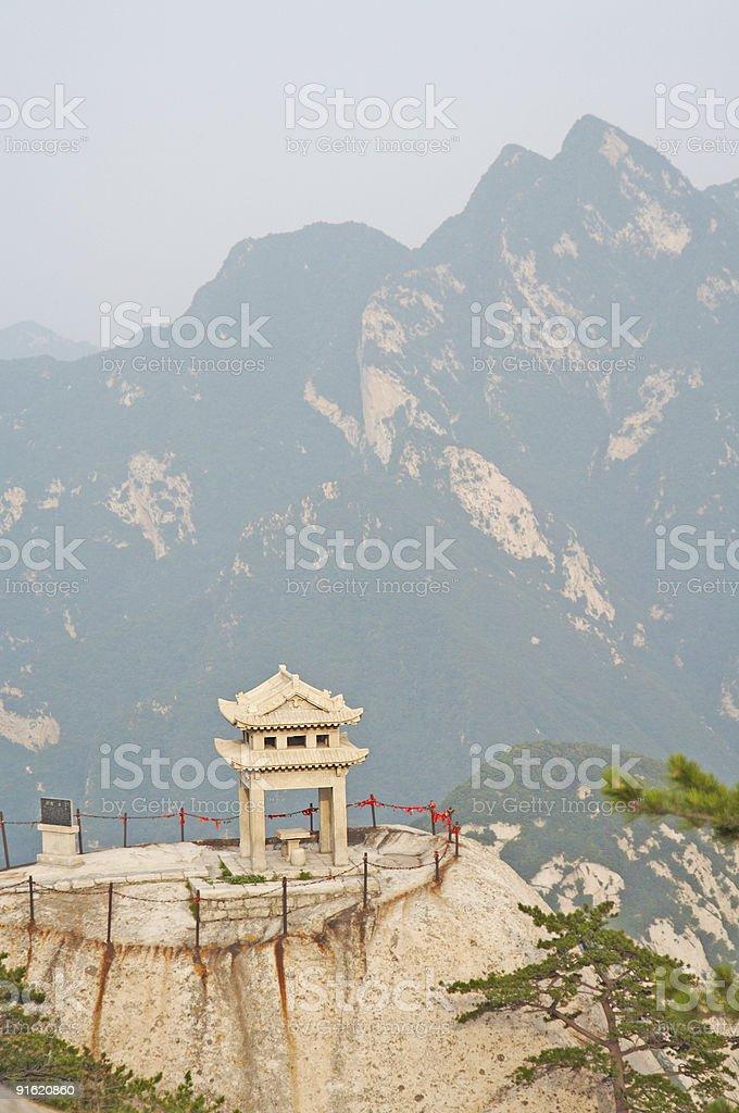 stone pagoda on the Huashan royalty-free stock photo