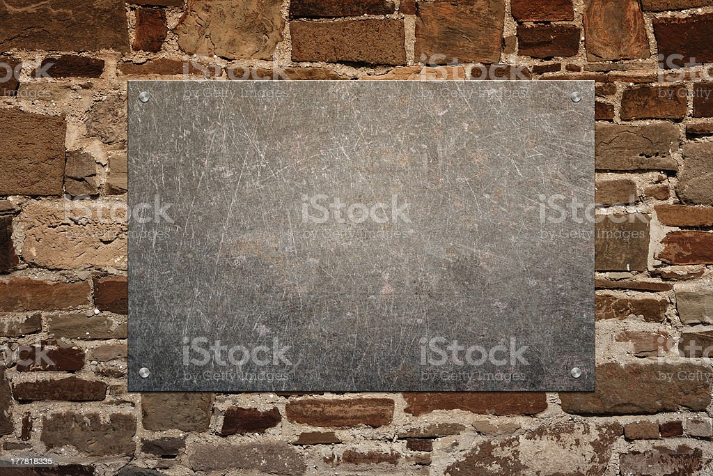 Stone panel on wall royalty-free stock photo