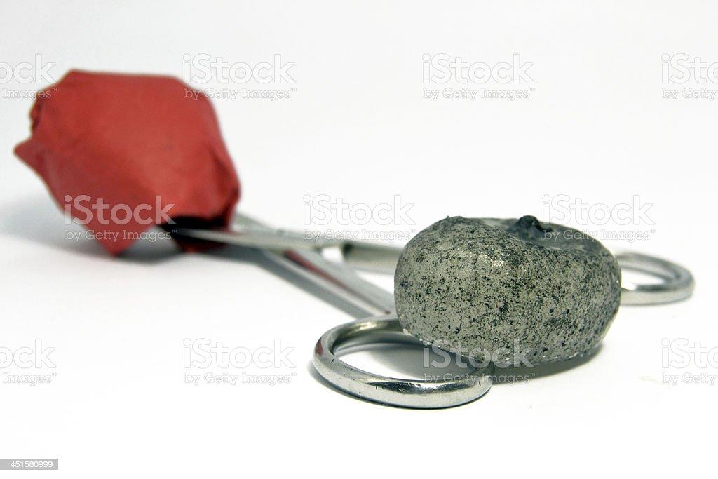 Stone, paper and scissor stock photo