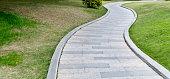 Stone path in a public park.