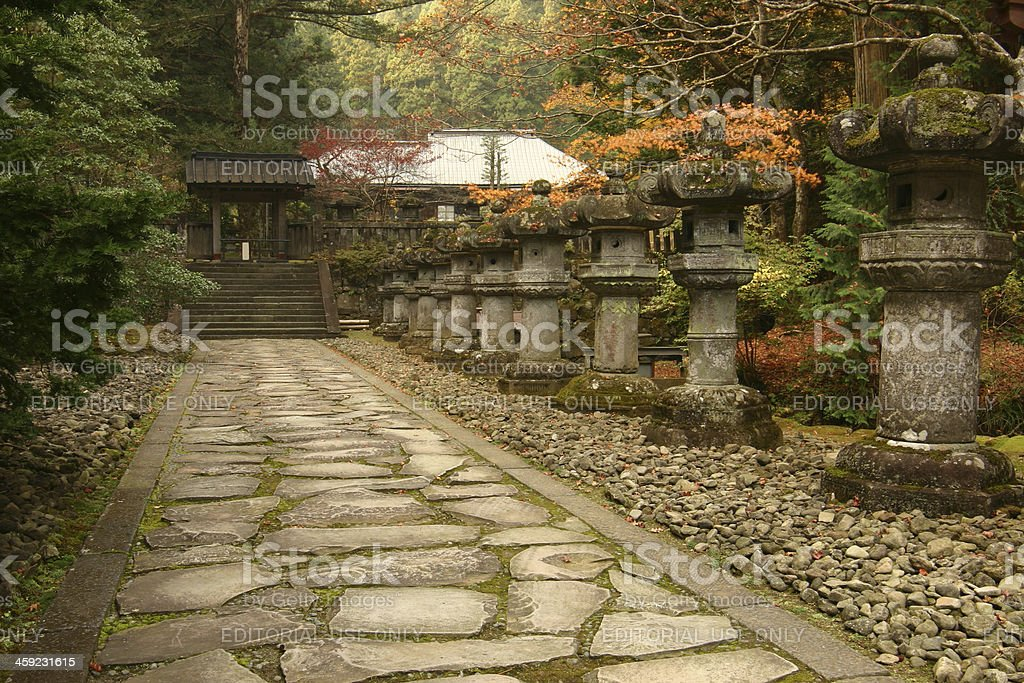 Stone path in the japanese garden royalty-free stock photo