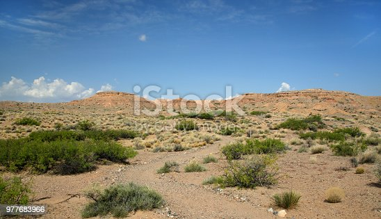 Sandstone mountain landscape in central New Mexico near Socorro.