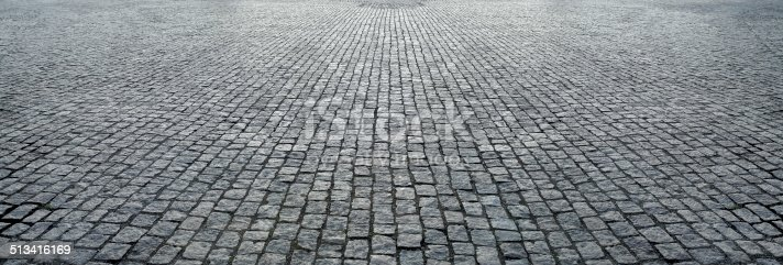 stone pavement in perspective