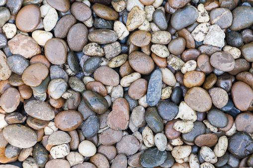 Stone Pebbles Textuur Of Steen Kiezels Achtergrond Stenen Kiezels Voor Interieur Exterieur Decoratie En Conceptontwerp Van Industriële Bouw Steen Pebbles Motieven Die Natuurlijke Optreedt Stockfoto en meer beelden van Achtergrond - Thema