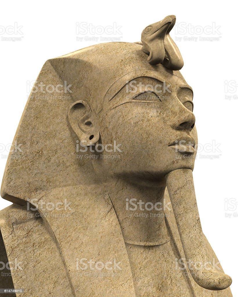 Stone Pharaoh Tutankhamen stock photo