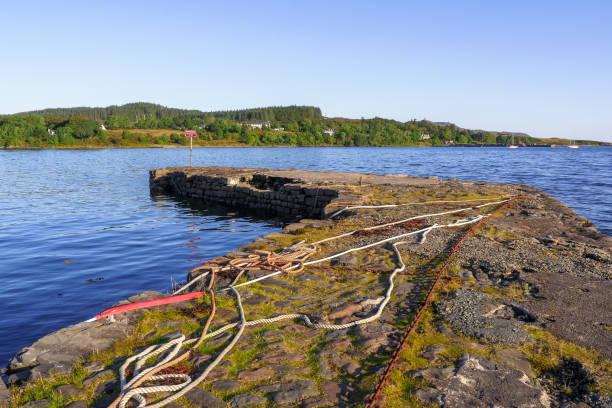 Stone pier at Isle of Skye, Scotland / UK stock photo